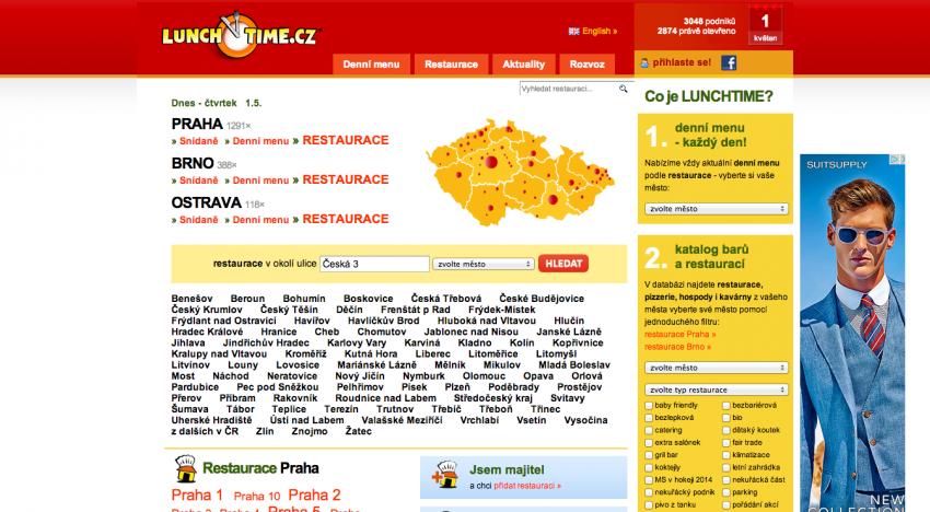 Lunchtime koupil Restaurace.cz