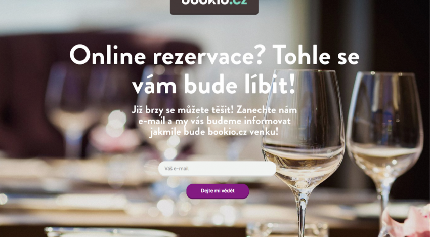 Rezervační systém Bookio už brzy na vašich monitorech