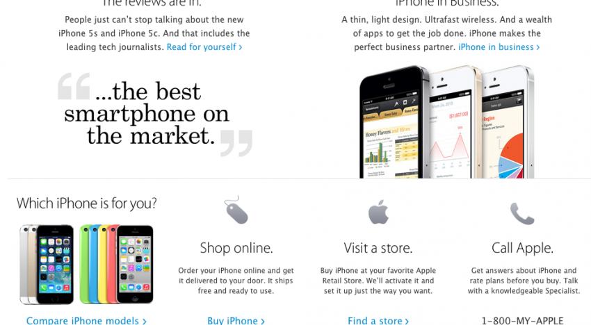 Aplikace Spendee na Apple homepage