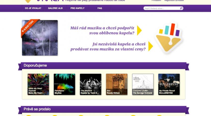 Startuje Vivala aneb prodej hudby menších kapel