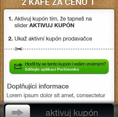 iOS a Android aplikace Portmonka je venku