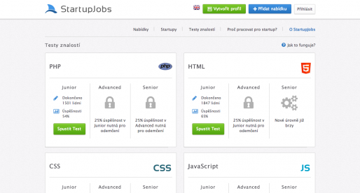 StartupJobs s novými testy, které otestují vaši IT Angličtinu