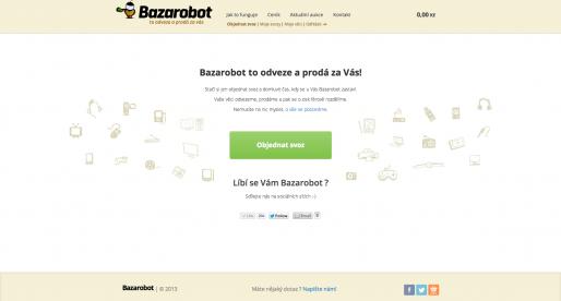 Bazarobot.cz oficiálně spuštěn