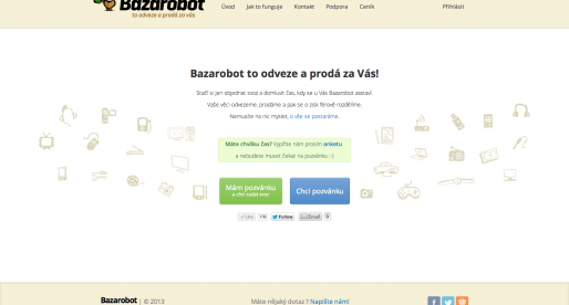 Jak si vede betaverze Bazarobot.cz?