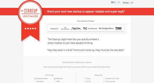 The Startup Legitimizer aneb jak podvodem udělat z vašeho startupu mediální hvězdu