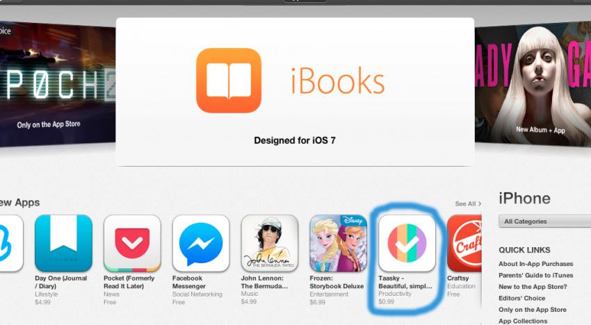 Taasky od Scrape apps a Cleevia mezi nej aplikacemi na Appstore