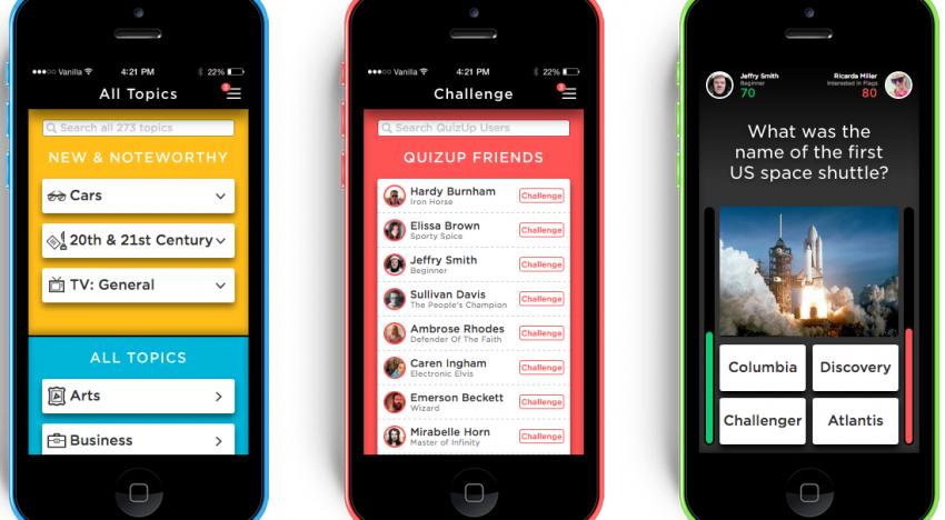 QuizUp…iOS aplikace, která má měsíc po spuštění více než 5 milionů uživatelů