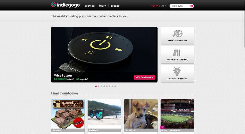 Crowdfundingová dvojka Indiegogo získává investici ve výši 40 milionů dolarů