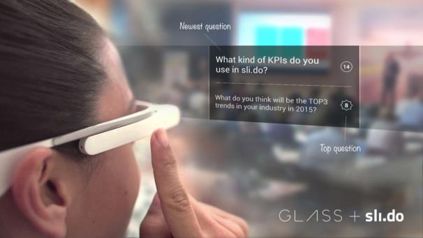 Slovenské Sli.do zabodovalo s aplikací pro Google Glass