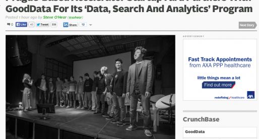 Český StartupYard ohlašuje na TechCrunchi partnerství s GoodData