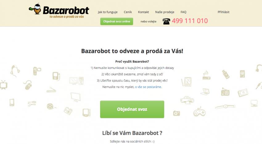 Bazarobot.cz překonal hranici 1000 vystavených aukcí