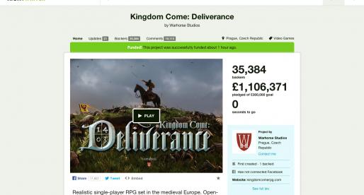 Warhorse Studios, kteří na Kickstarteru vybrali přes 36 milionů Kč, informují o novinkách ze zákulisí
