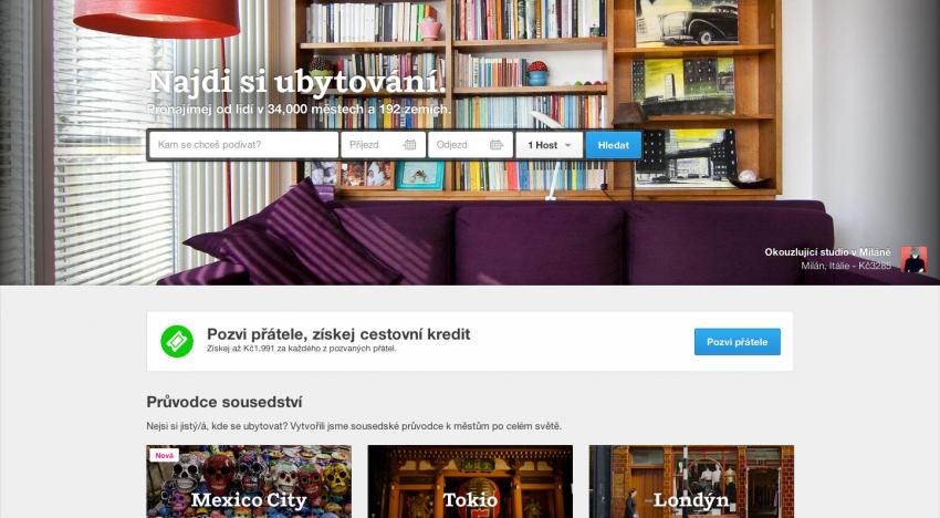 Airbnb se připravuje na další investici, která by ho ocenila na 10 miliard dolarů