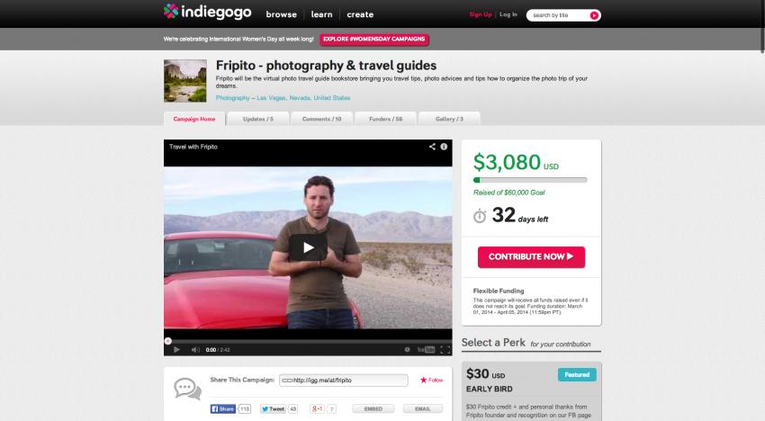 Česká appka Fripito vybírá peníze na Indiegogo. Během pár hodin získala 3 tisíce dolarů