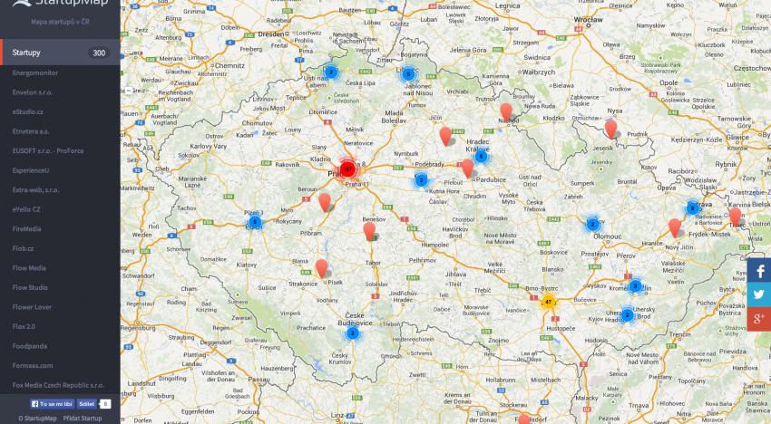 StartupMap.cz…mapa českých startupů