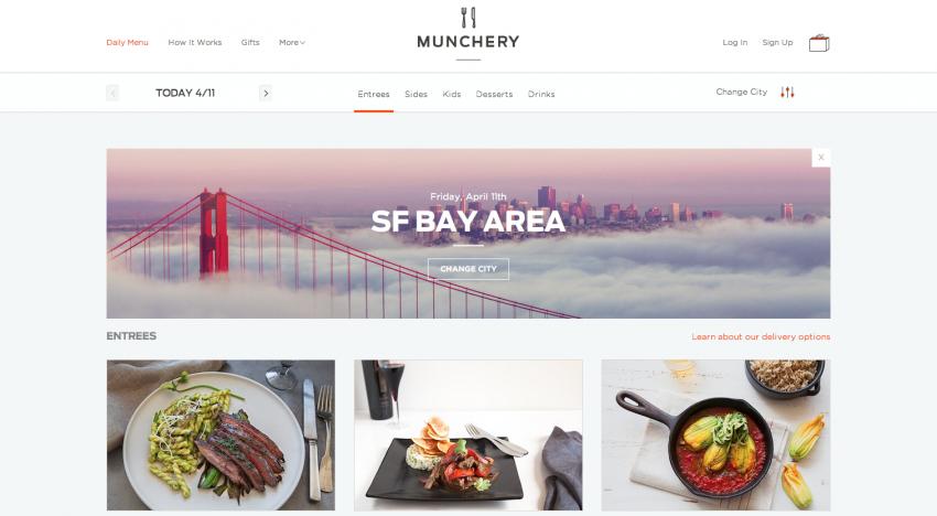 Food delivery startup Munchery získává 28 milionů dolarů. Investičního kola se účastní i celebrity