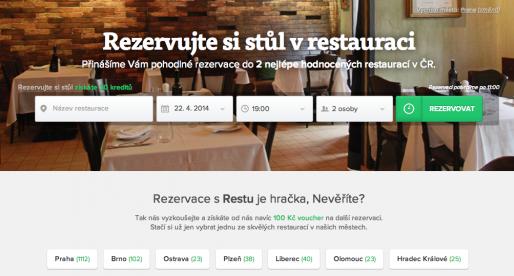 Rezervační služba Restu.cz od Mitonu už přivedla do českých restaurací přes 300 tisíc hostů
