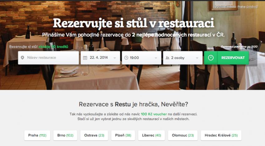 Restu.cz spouští novou službu pro restaurace. Automaticky generované weby