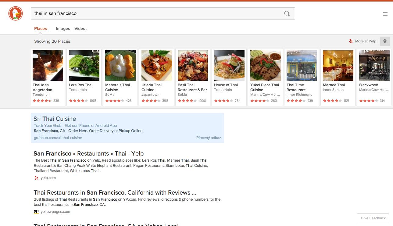 Nový redesign a funkce včetně míst…poháněno Yelpem