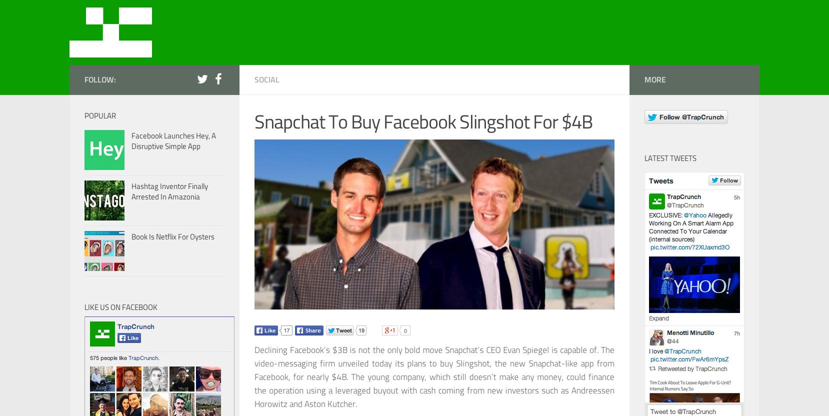 Snapchat kupuje Slingshot 4 miliardy