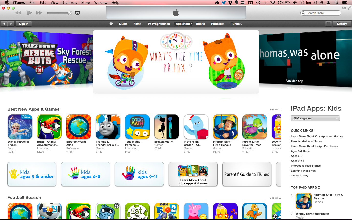 What's The Time Mr. Fox na App Store