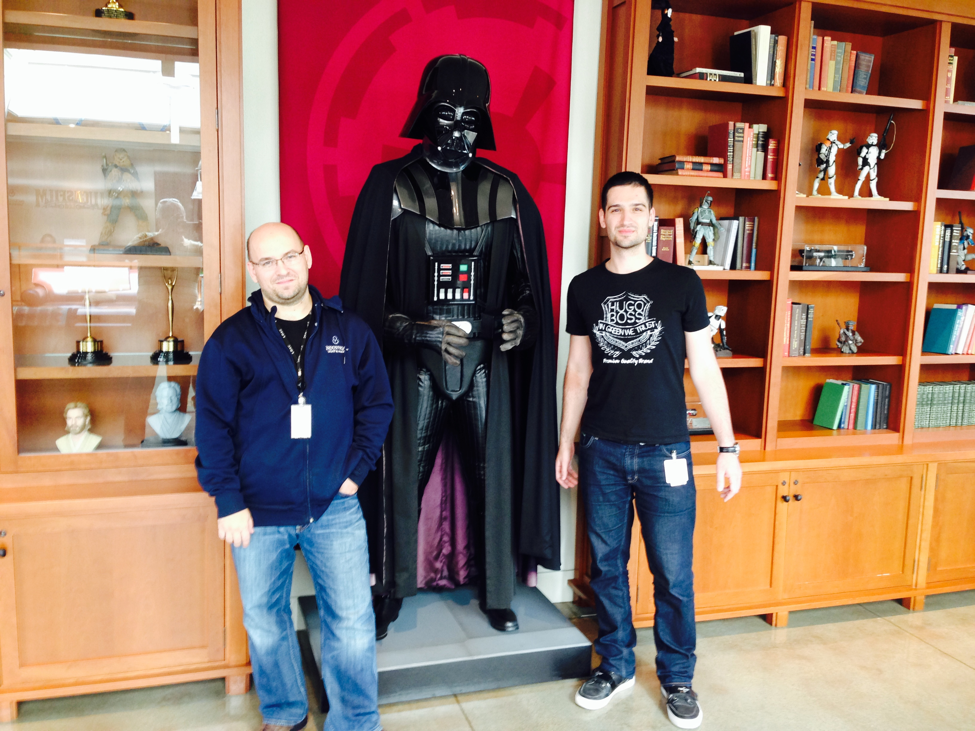 Pavel s Darth Vaderem a kolegou Patrikem Markem z Industrial Light & Magic