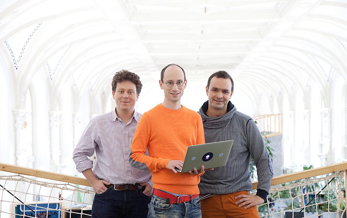 Trojice zakladatelů: Peter Halacsy, Peter Arvai, Adam Somlai Fischer