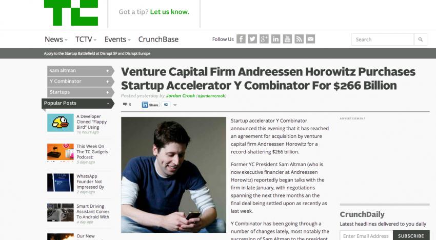 Investiční fond Andreessen Horowitz NEKUPUJE za rekordních 266 miliard dolarů Y Combinator
