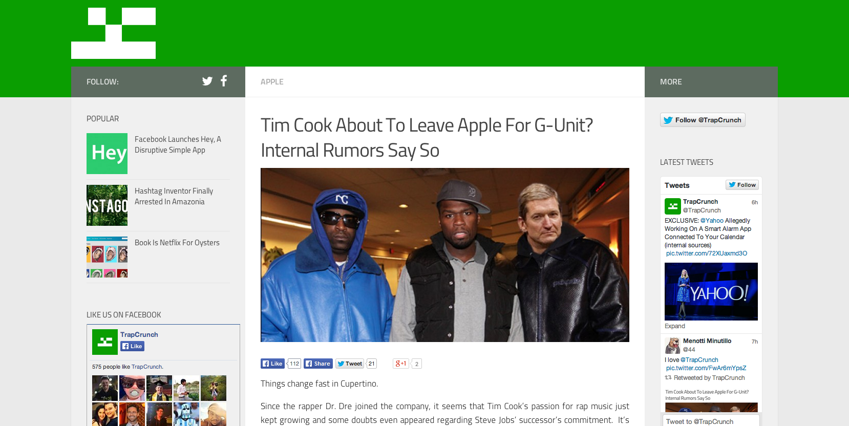 Tim Cook do G-Unit?