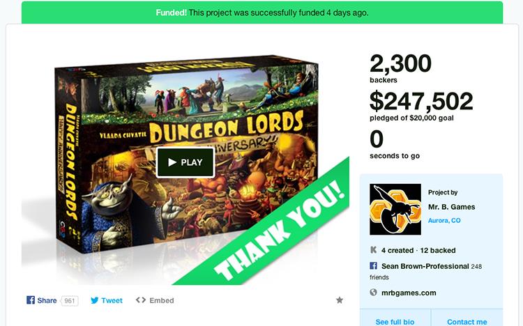Čeští Czech Games Edition vybrali na Kickstarteru přes 5 milionů Kč