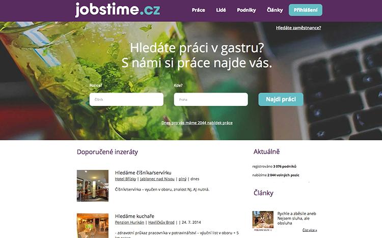 Startuje komunitní gastro portál Jobstime.cz. Podílí se na něm i Lunchtime.cz