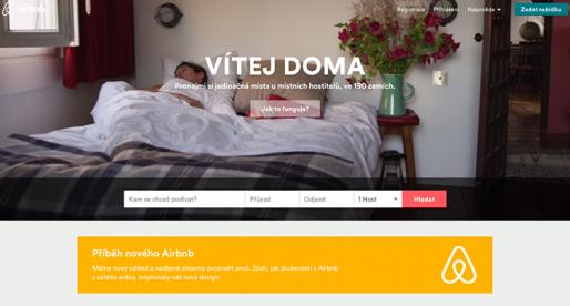 Airbnb kompletně redesignovalo. Takhle vypadá