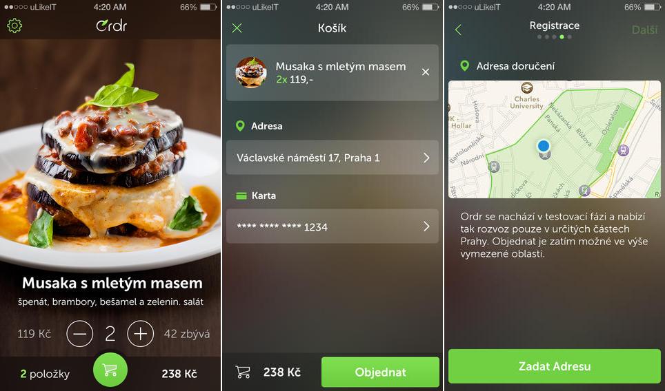 Nová iOS appka Ordr
