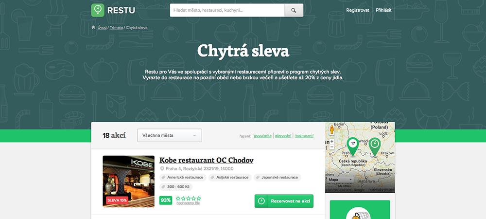 Restu.cz usadilo do restaurací už přes 1 milion hostů.
