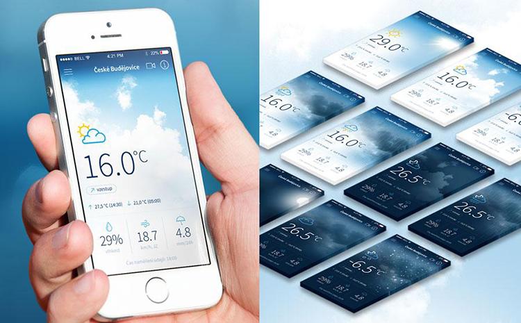 Nová česká iOS appka na předpověď počasí chce konkurovat světovým jedničkám…včetně Applu