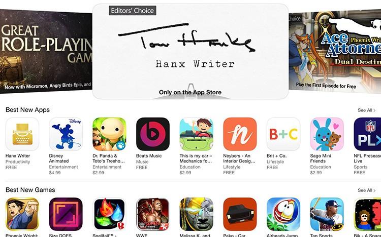 Herec Tom Hanks vydal vlastní iOS appku