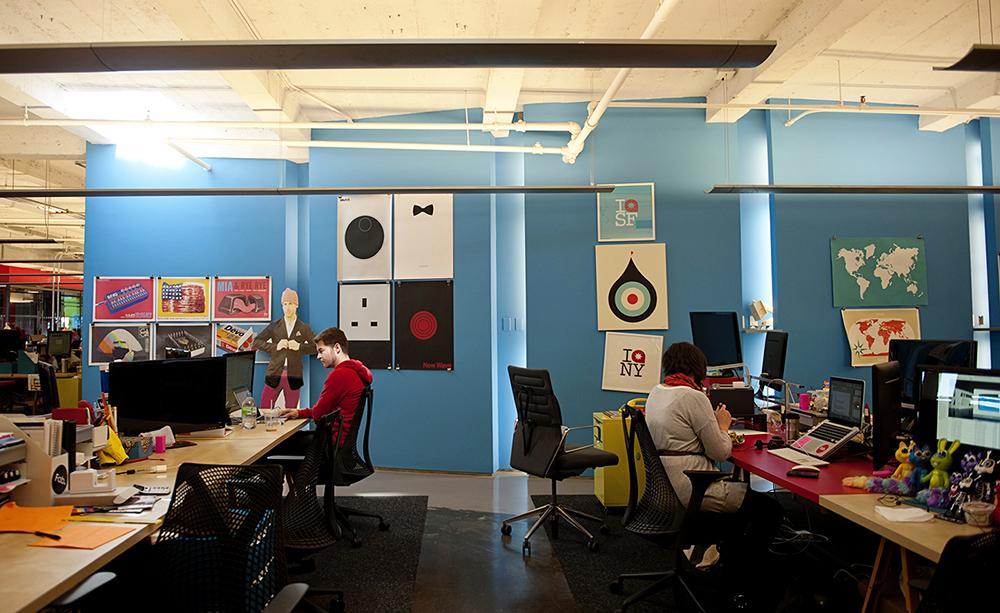 Jak to vypadá v kancelářích newyorského startupu Fab?