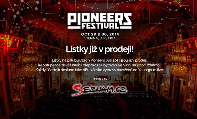 Startupový Pioneers Festival se blíží a s ním i Czech Pioneers Bus