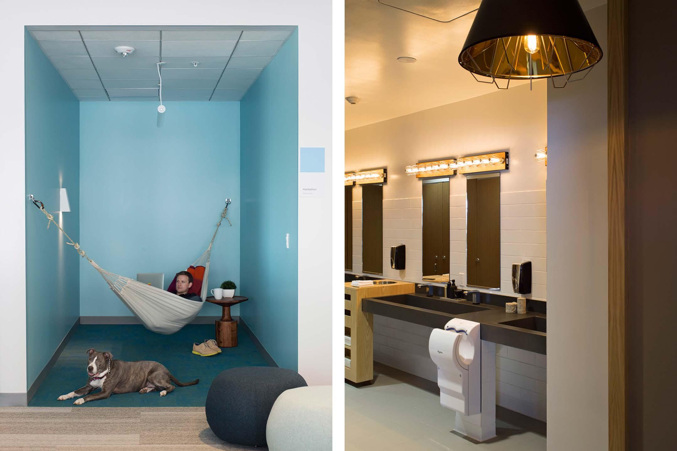 Relax room na levo, wc na pravo…