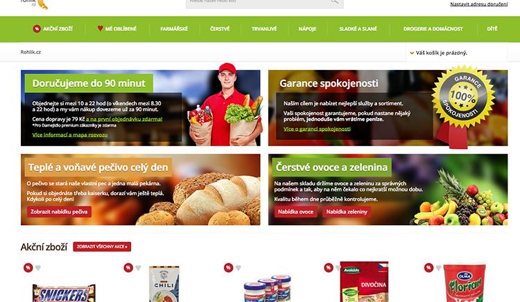 Online supermarket Rohlik.cz