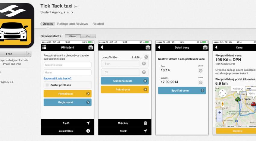 Taxi služba Tick Tack má konečně oficiální aplikace pro iOS a Android