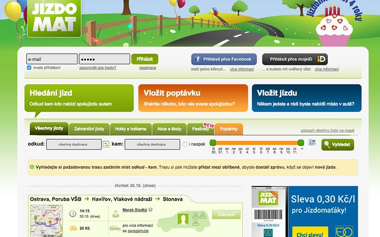 Infografika: Jízdomat.cz po 4 letech řečí čísel. Jak se mu daří?