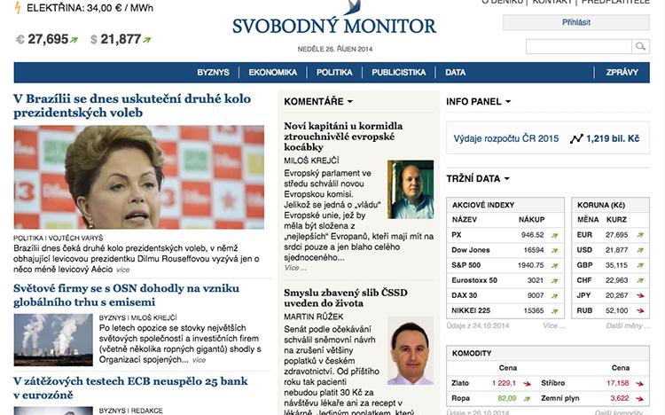 SvobodnýMonitor.cz: další sponzor CzechCrunche