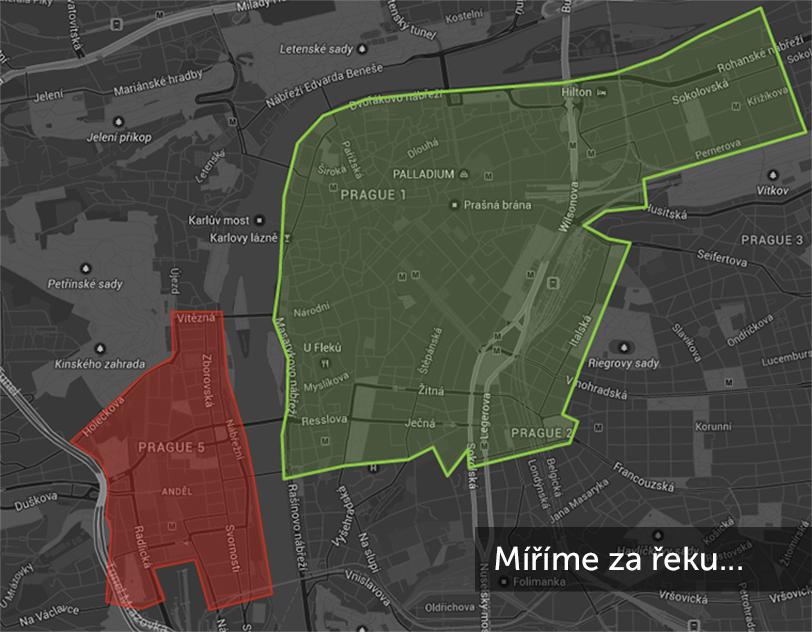 Mapa rozvozových zón…