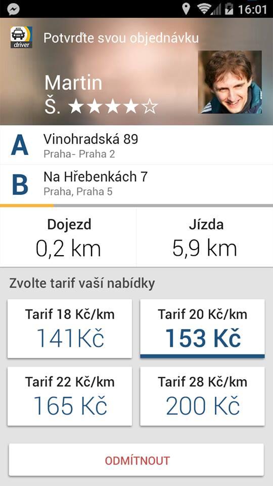 Driver appka Liftago…