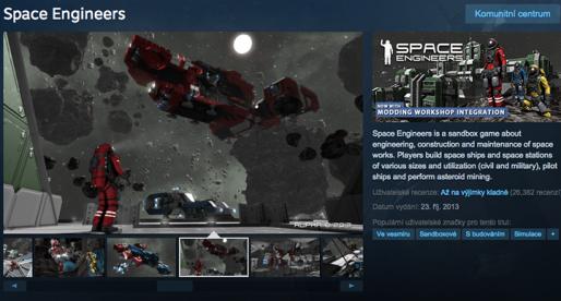 Česká nezávislá hra Space Engineers prodala 1 milion kopií