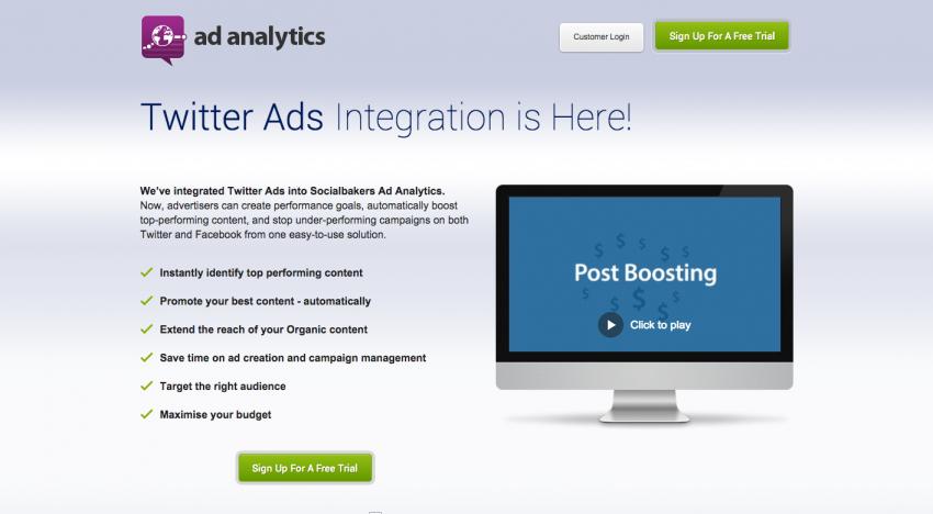 Socialbakers přidávají správu Twitter reklam