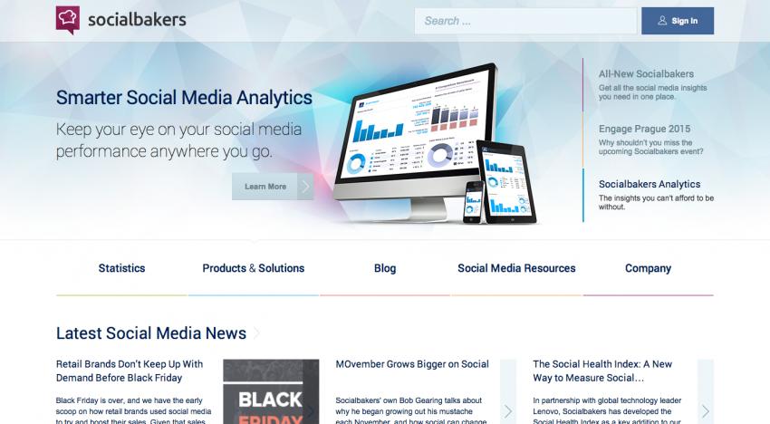 Socialbakers konečně po dlouhé době redesignují web