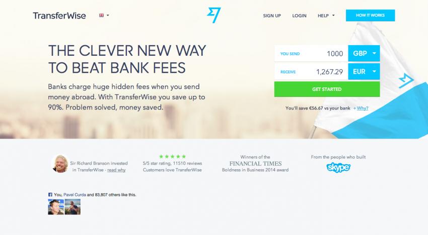 Britský TransferWise na investicích atakuje hranici 100 milionů dolarů