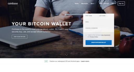 Coinbase, bitcoinová platforma, raisuje 75 milionů dolarů